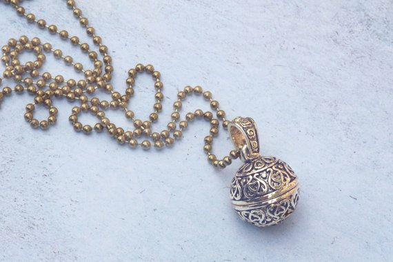 Prayer box pendant wish box jewelry secret box compartment fairy