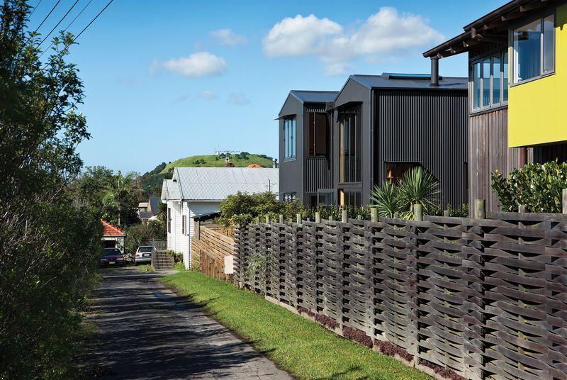 A Nautical Shed Home in New Zealand Roof architecture