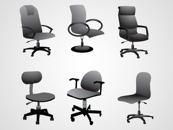 Office Chairs Free Vector Office Chair Vector Free Chair