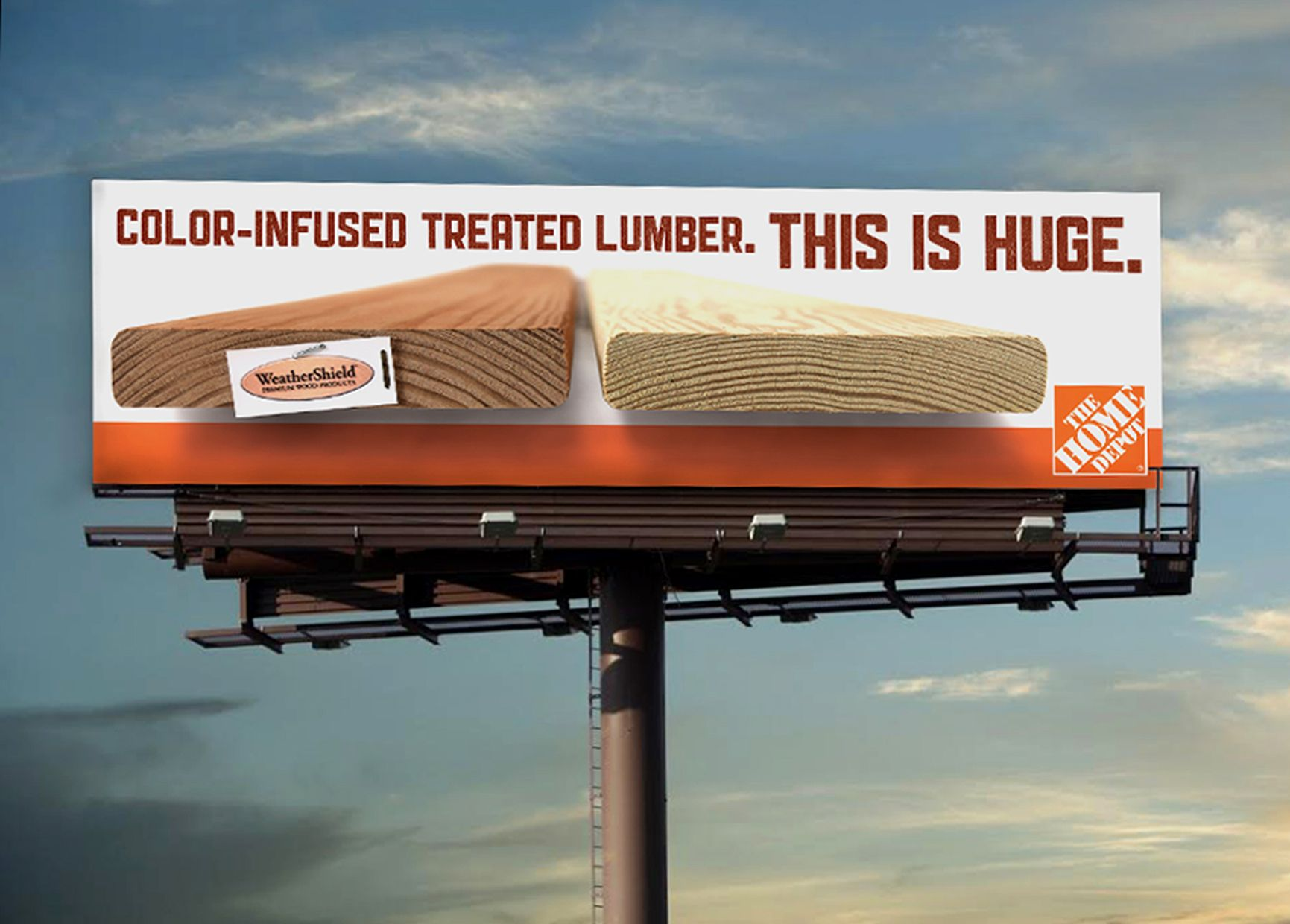 The Home Depot outdoor billboard created by Extra Credit