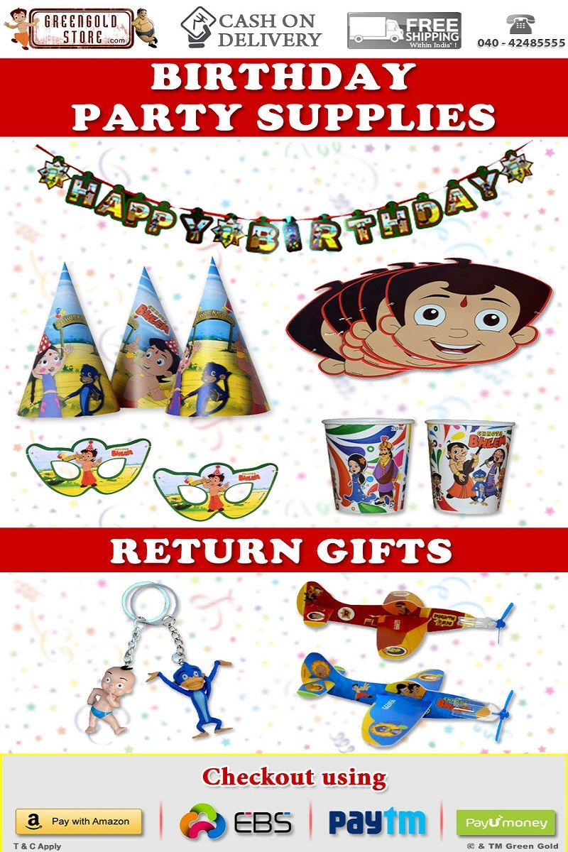 Planning For Chhota Bheem Theme Birthday Party Your Kid Green Gold Store Is
