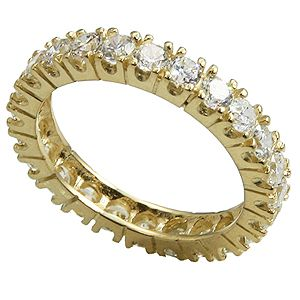 Stock 520614k Yellow Gold or 14k White Gold Cubic Zirconia