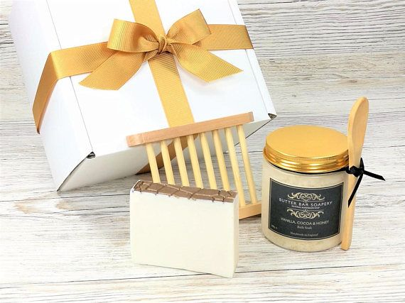 All Natural Spa Gift Set, Bath & Body Gift Box with luxury