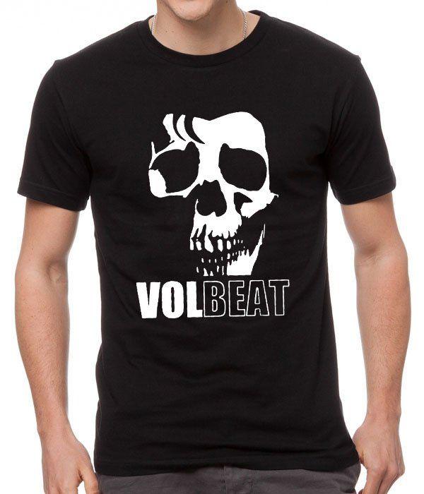 Volbeat Danish Rock Band Cool Skull Black Men T-Shirt