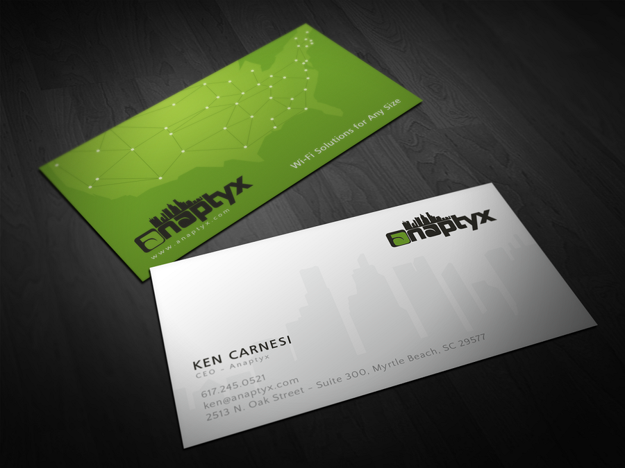 freelance Business Card for Modern Wireless ISP by tykw   Business ...