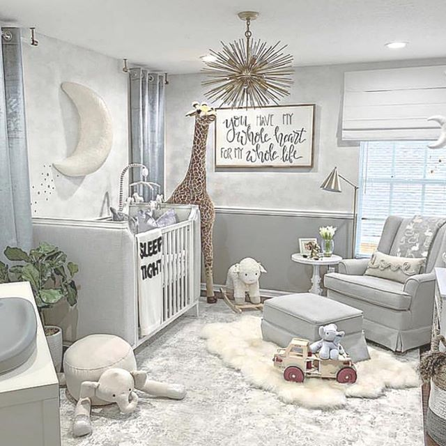 "In Order to Succeed on Instagram: ""Oh baby. . . � How insanely cute is this nursery?? - #babyroom #luxurynursery #heaven #white #wowdecor #gray #toys #nurserydecor…"""