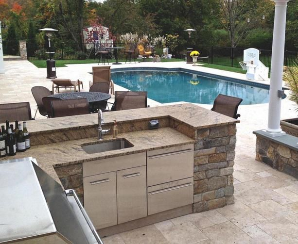 csrlamom on Patios, Backyard and Kitchens - evier exterieur en pierre