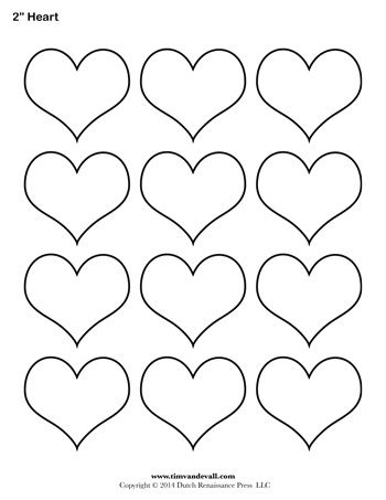 A Printable Heart Template Sheet  Party Decoration
