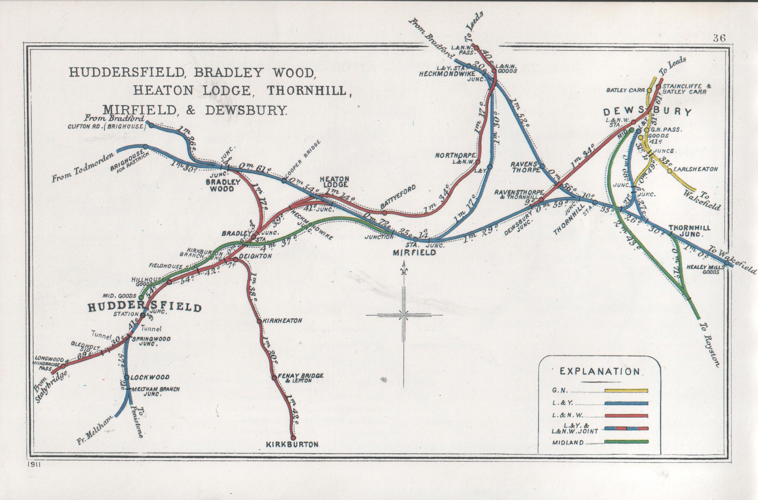 Huddersfield Bradley Wood Heaton Lodge Thornhill Mirfield
