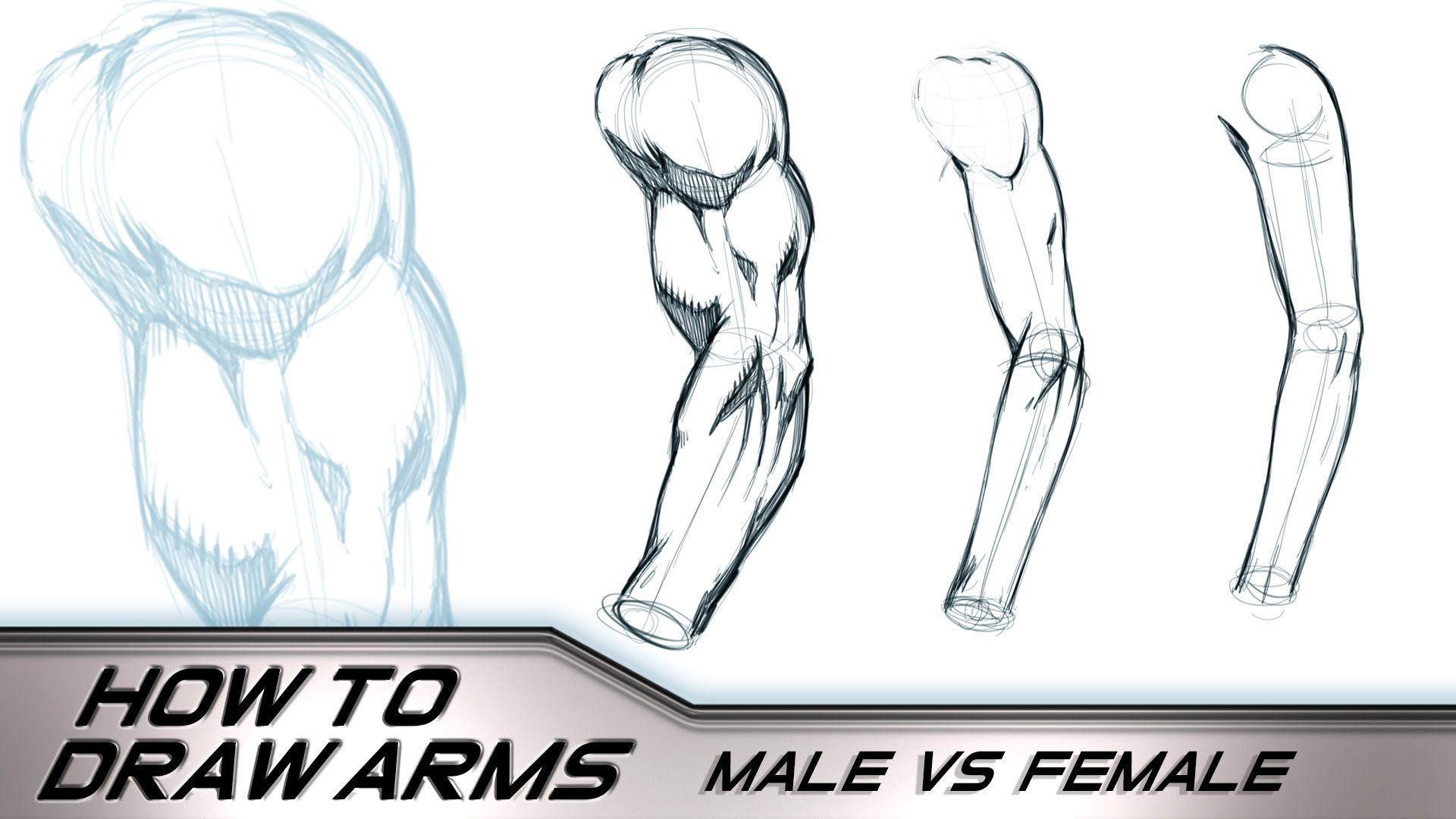 How To Draw Arms Male Vs Female Howto Draw Arms Male Female