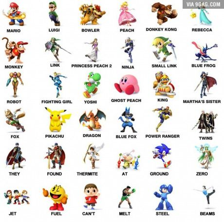 Asked My Friend S Six Year Old To Name As Many Super Smash Bros
