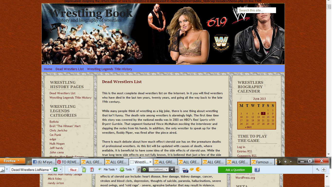about WWF also WWE