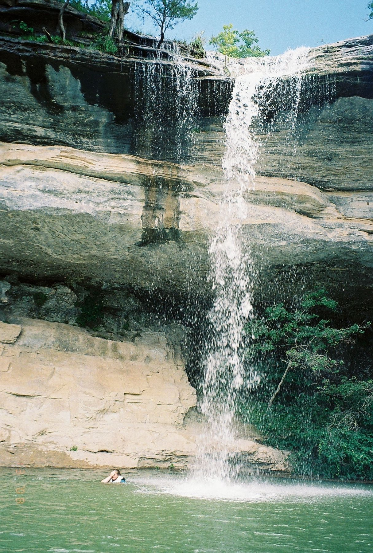 Beaver Lake Arkansas. I know where that waterfall is! Been to it.
