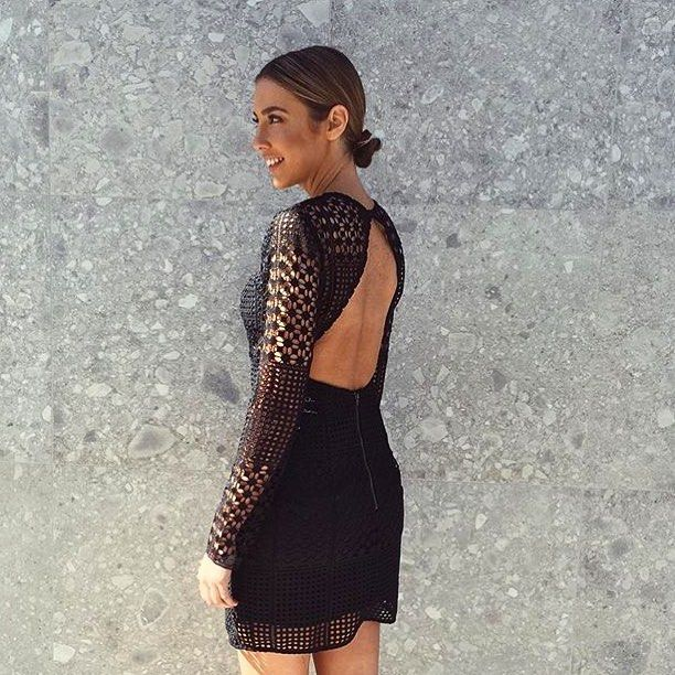 Back detail on the como lace dress is lit! shop now in boutiques & online xx #kookai