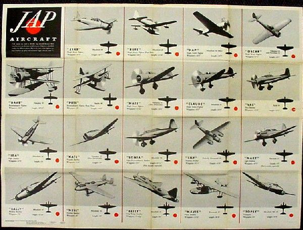Code names are used to identify Jap aircraft because their ...