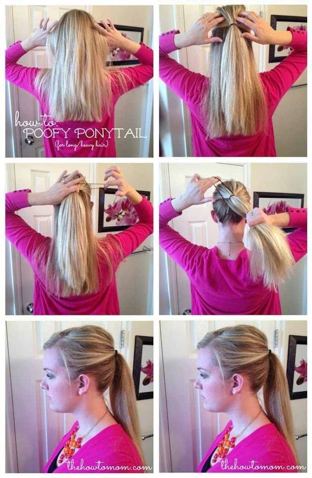 How to Make a Poofy Ponytail | Ponytail, Hair style and Hair repair