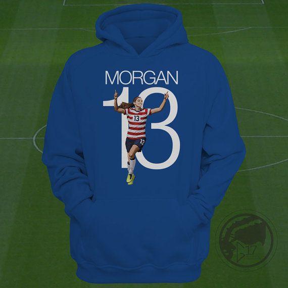 2042e42e1ad Alex Morgan USWNT Hoodie - Alex Morgan Soccer Sweatshirt - Size S to XXL  Custom Apparel Football, fu