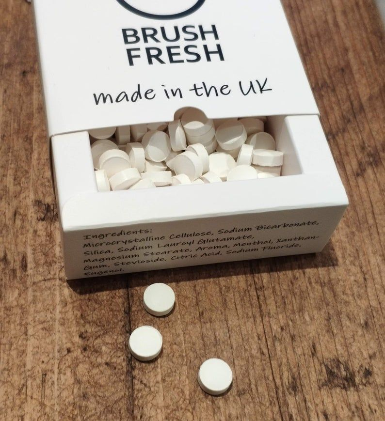 Fluoride Toothpaste Tablets One Month 37g UK made Etsy