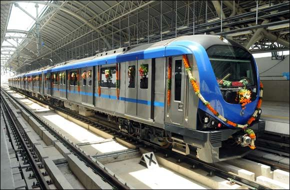 Alstom S First Metro In India Enters Commercial Service Train Train Tickets Metro