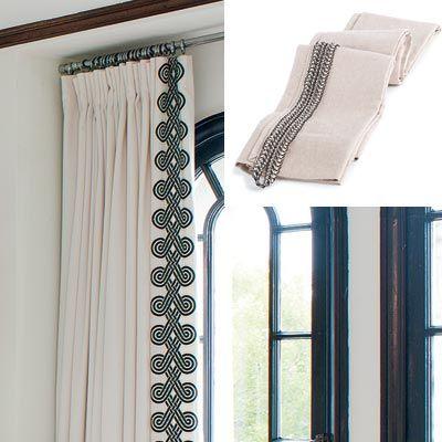 Clean lines and soft finishes update an empty nest cortinas ideas para cortinas y estor - Estor para ducha ...