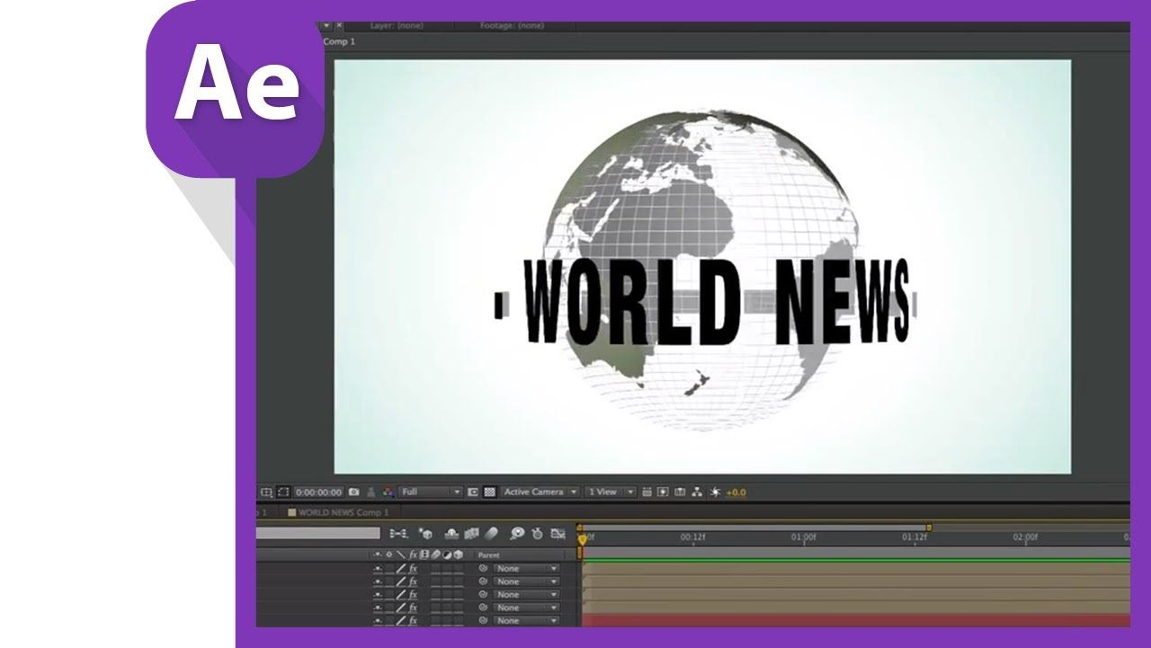 Motion graphics newscast globe after effects tutorial adobe motion graphics newscast globe after effects tutorial baditri Choice Image