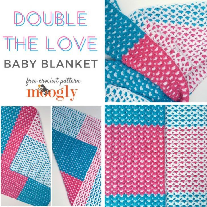 Double the Love Baby Blanket - free crochet pattern with photo ...