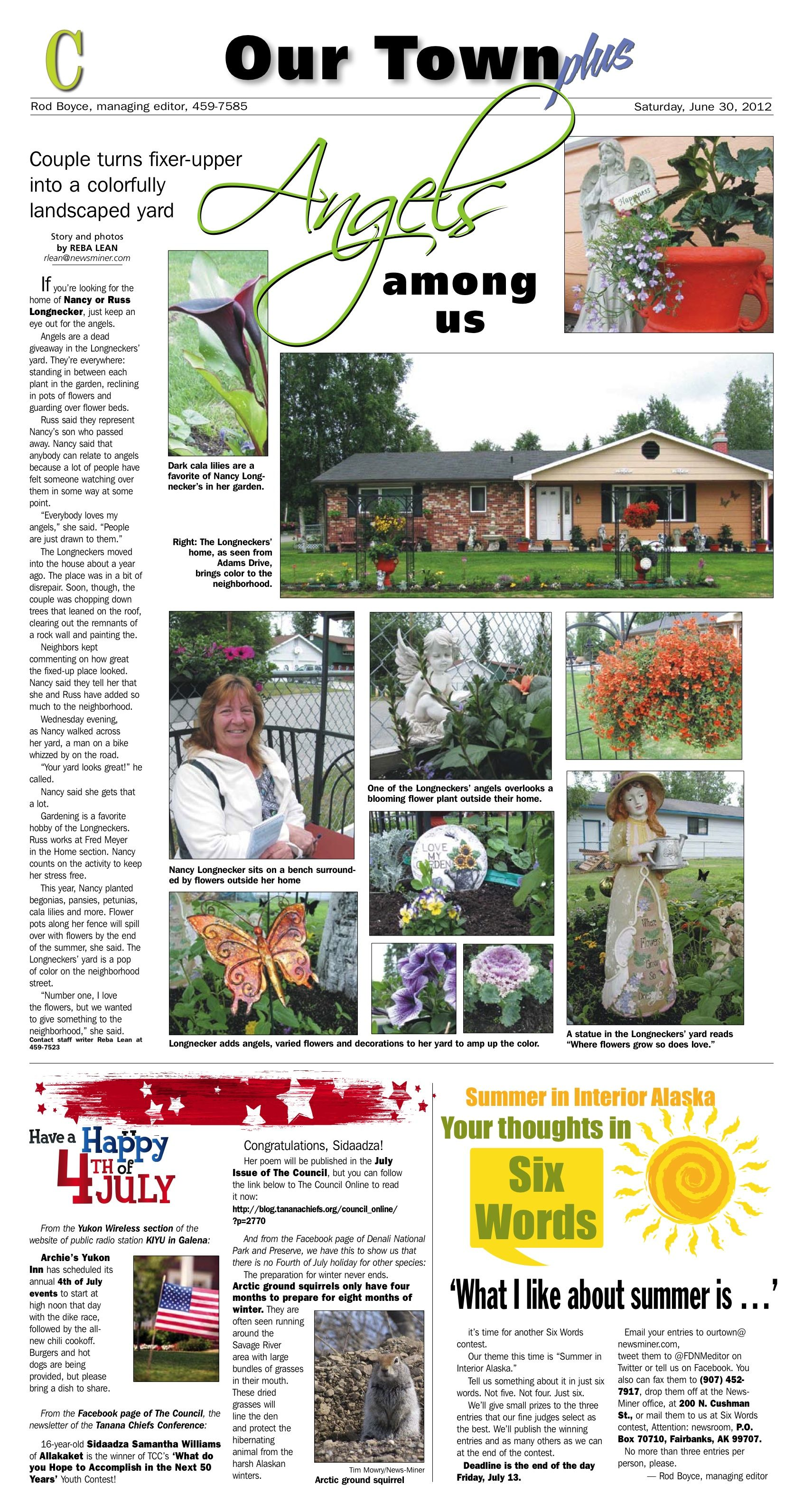 Sneak peek time: All you gardeners out there should like this page from tomorrow's (Saturday, June 30, 2012) edition.
