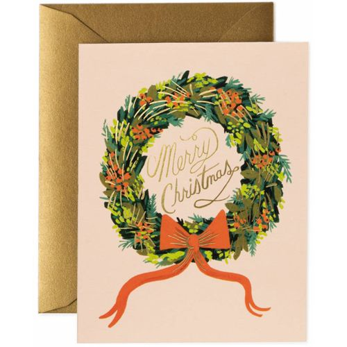 Rifle Paper Co - Christmas Wreath Boxed Card Set, blank interior