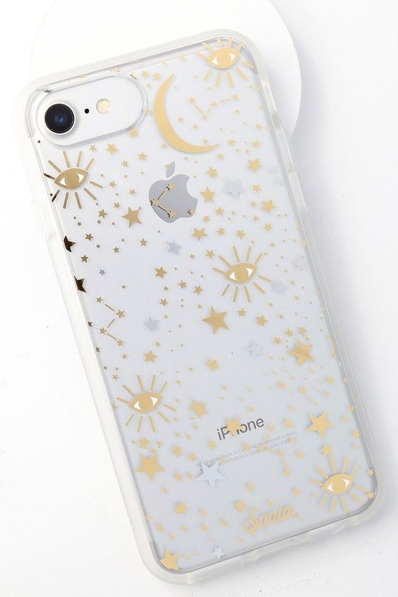 low cost 47422 2f1b9 Cosmic Clear and Gold Star Print iPhone 6s, 7, and 8 Case in 2019 ...