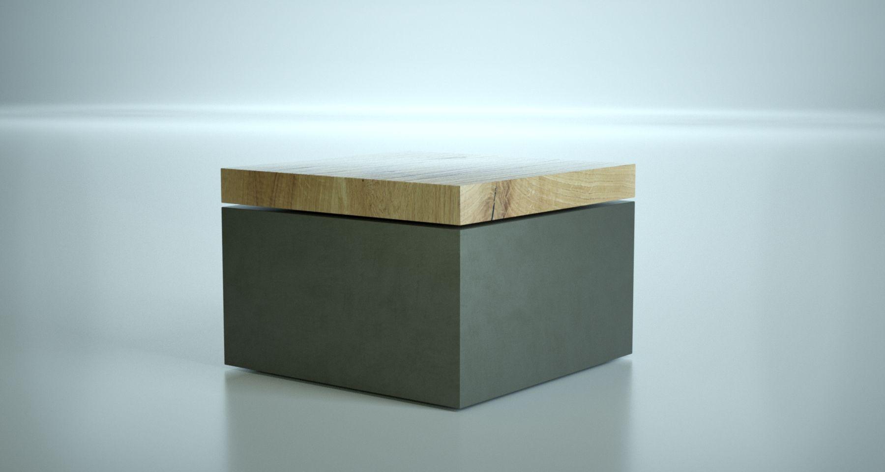 Lounge Tischbeistelltisch Aus Glasfaserbeton In Kombination Mit
