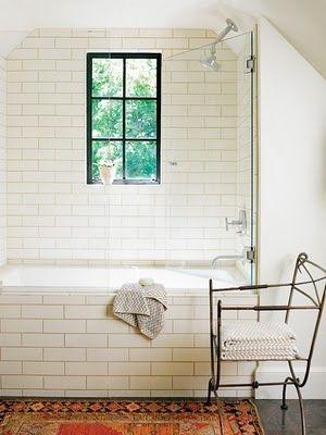 Subway Metro Tiles Or Victorian Public Toilet Tiles If You Re British As Bath Panel A Li Bathroom Inspiration Kitchen And Bath Design Subway Tiles Bathroom