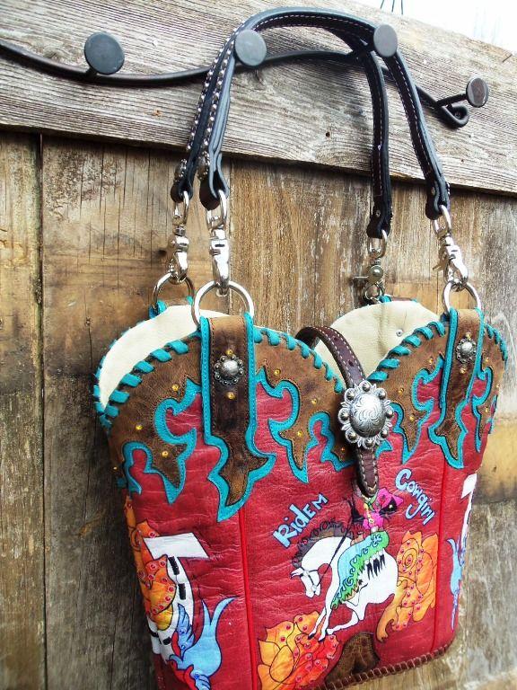 #cowboyboots #cowboybootpurse #cowboybootbag #cowgirlswagger #madeinUSA  http://www.diamond57.com/cowboybootpurses