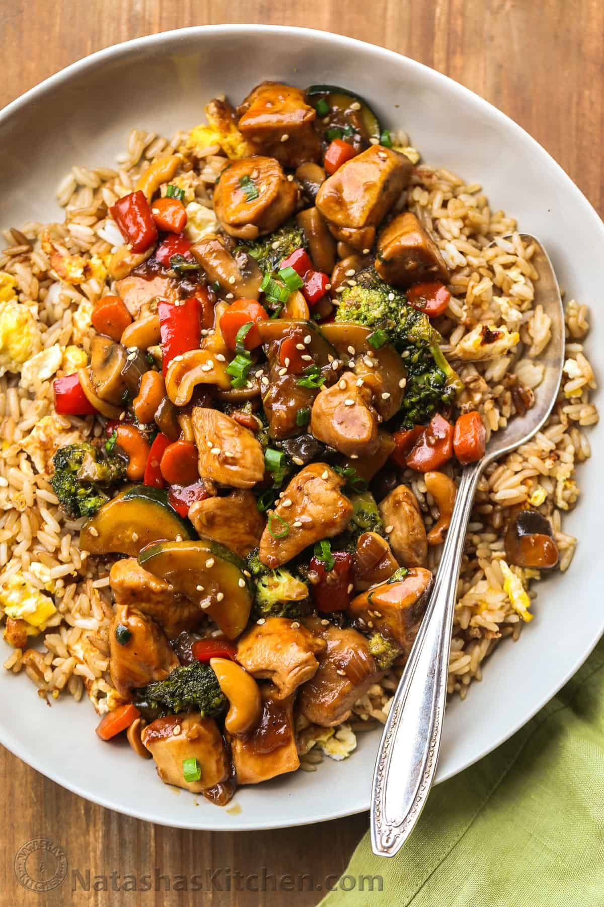 A 30 Minute Chicken Stir Fry Recipe With An Easy Ginger Honey Soy Sauce Perfect Easy Din Recipes With Soy Sauce Easy Stir Fry Recipes Stir Fry Recipes Chicken