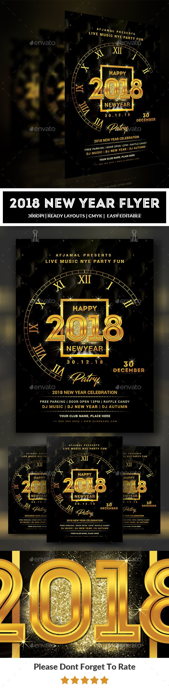 New Year Flyer Template  Flyer Template Template And Event