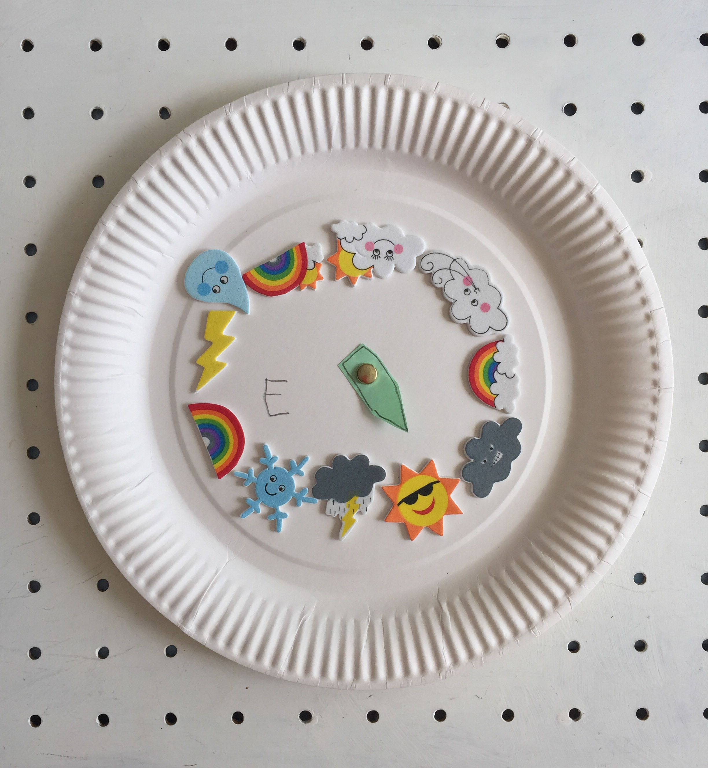 Paper plate weather station weather paper plate art and paper paper plate weather station jeuxipadfo Images
