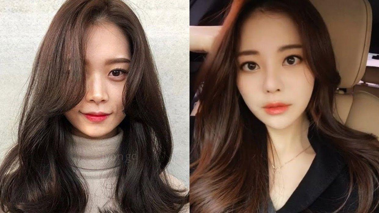 Korean Medium Hairstyle Female 8 Di 2020 Gaya Rambut Rambut Populer
