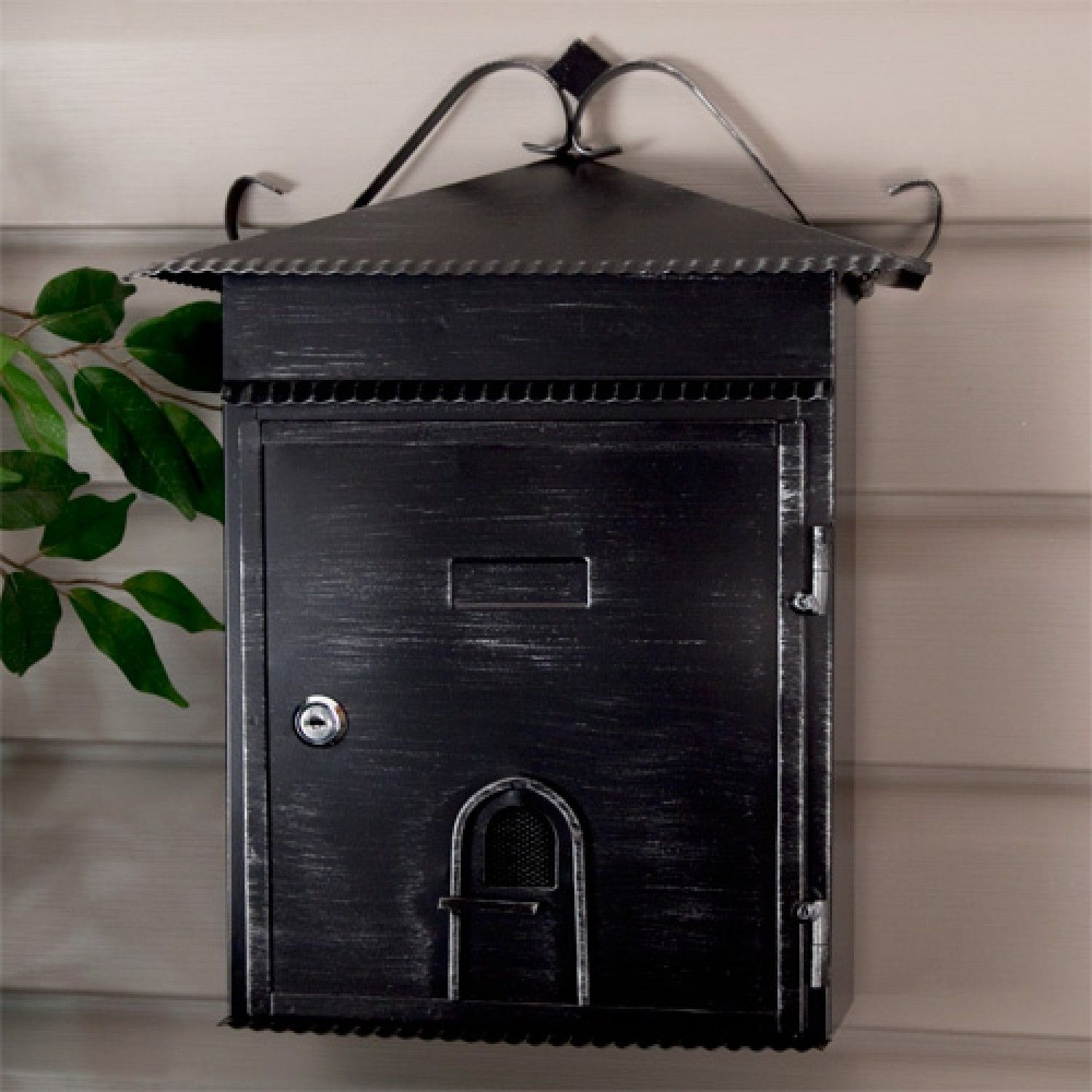 Good Rustico Wall Mount Locking Mailbox   Aged Black Powder Coat   Mailboxes And  Slots   Outdoor