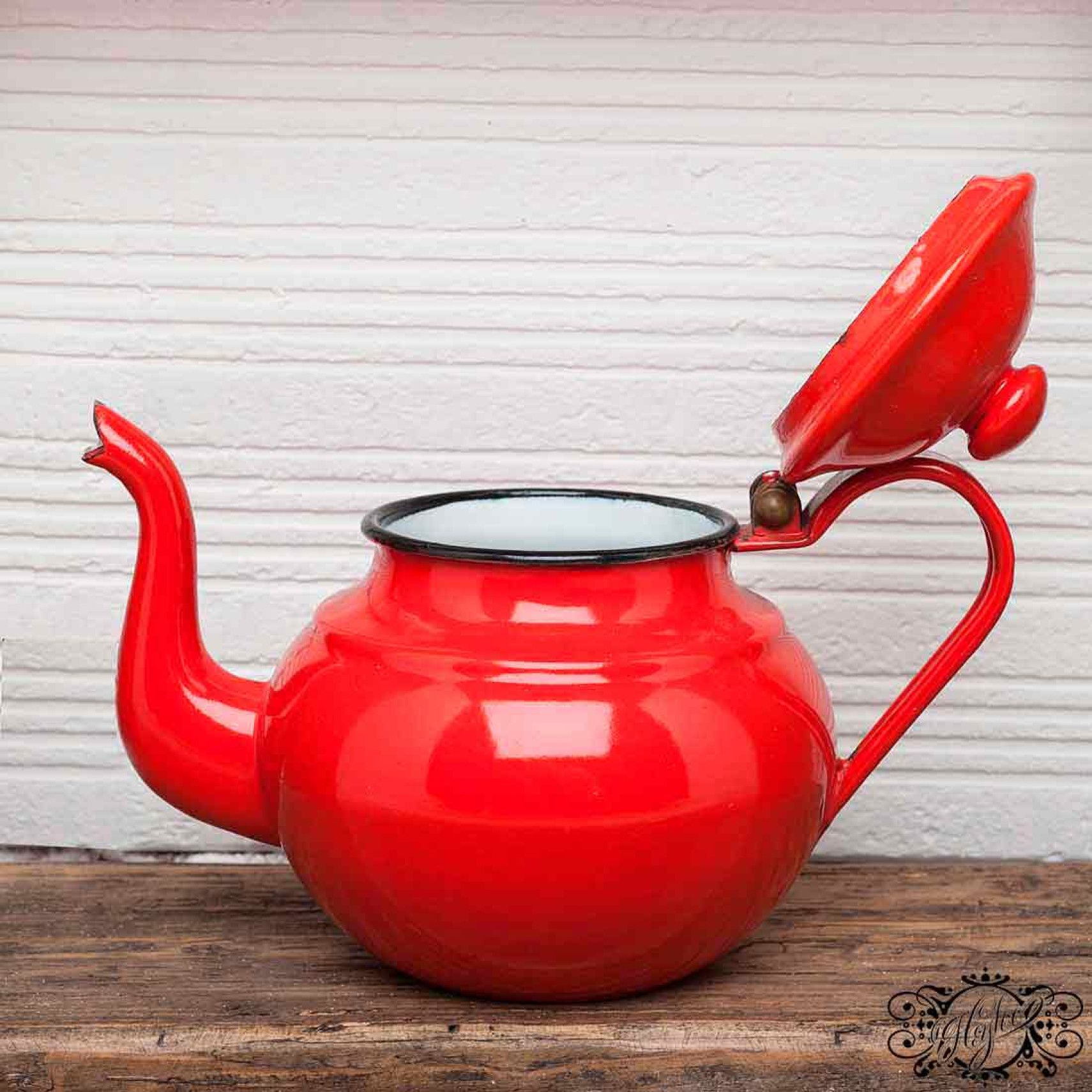 vintage red teapot opened scarlet red pinterest red teapot
