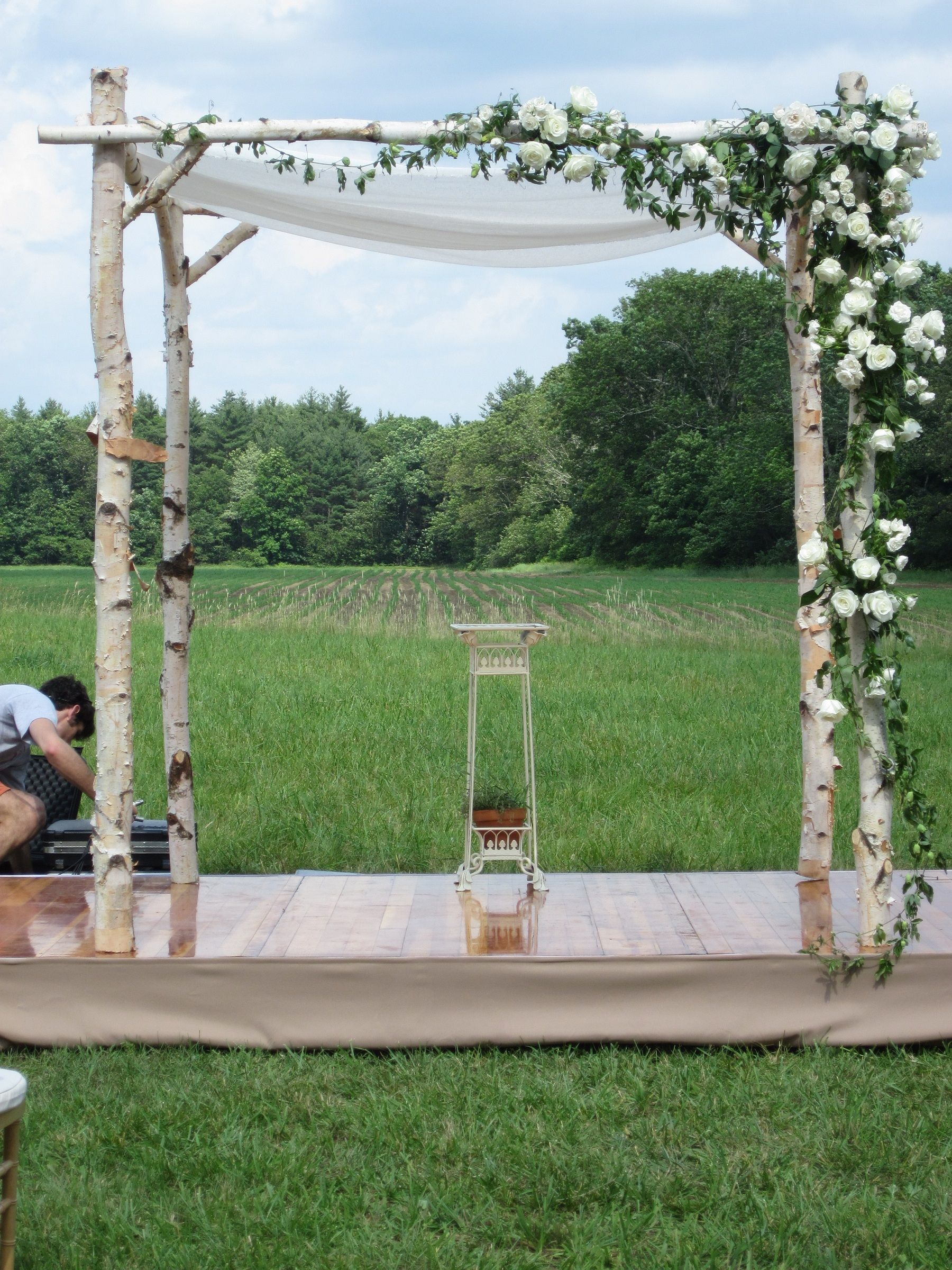 how to build a wooden chuppah
