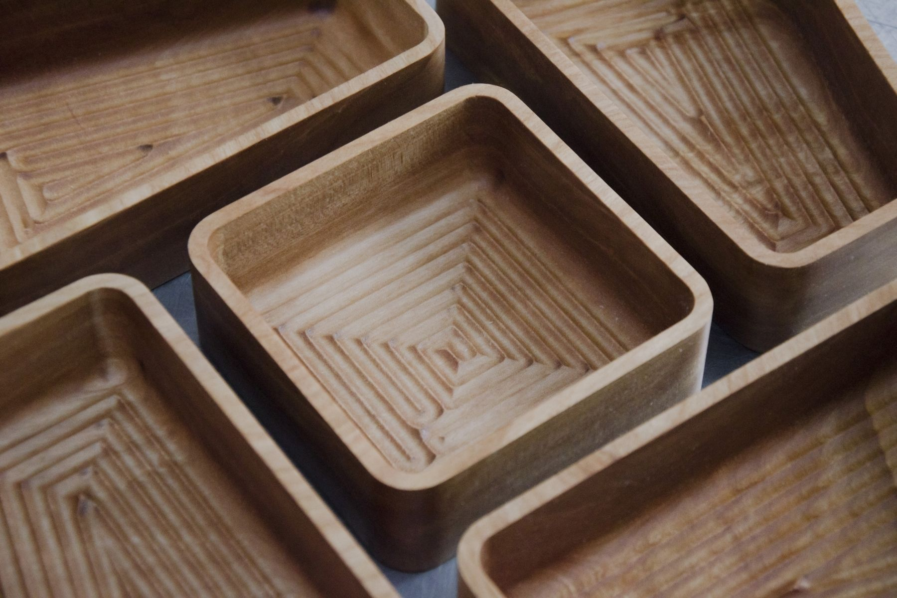 custom made cnccut red birch serving trays  furniture  - custom made cnccut red birch serving trays