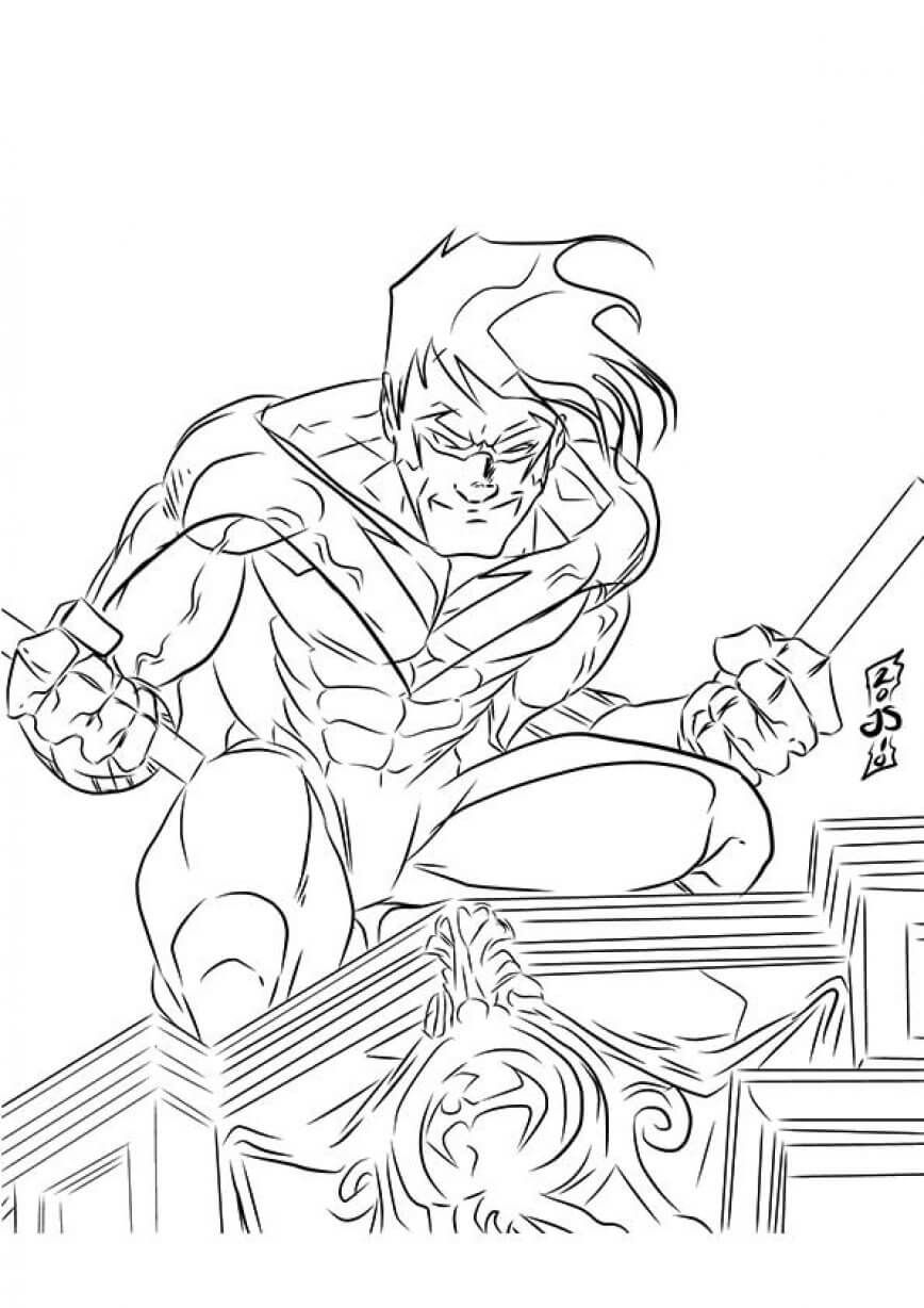 32 Nightwing Superhero Coloring Superhero Coloring Pages Coloring Pages