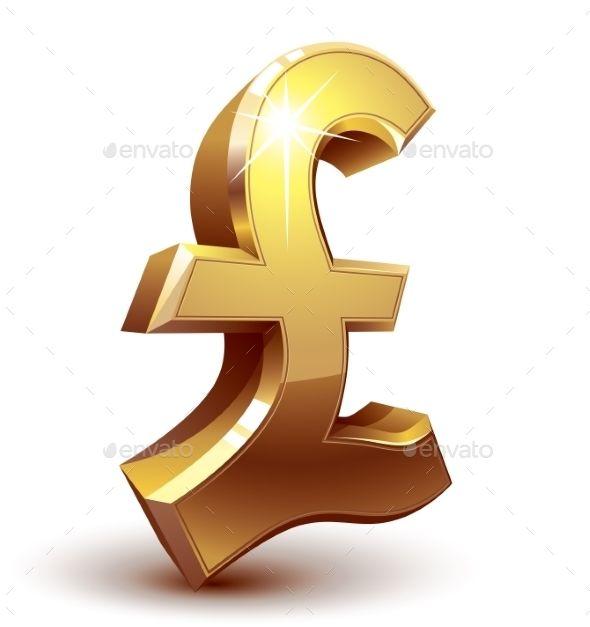 Pound Symbol Symbols Colour Gradient And Font Logo