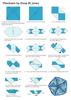 Origamis da Mary: Diagrama Phantasm Kusudama