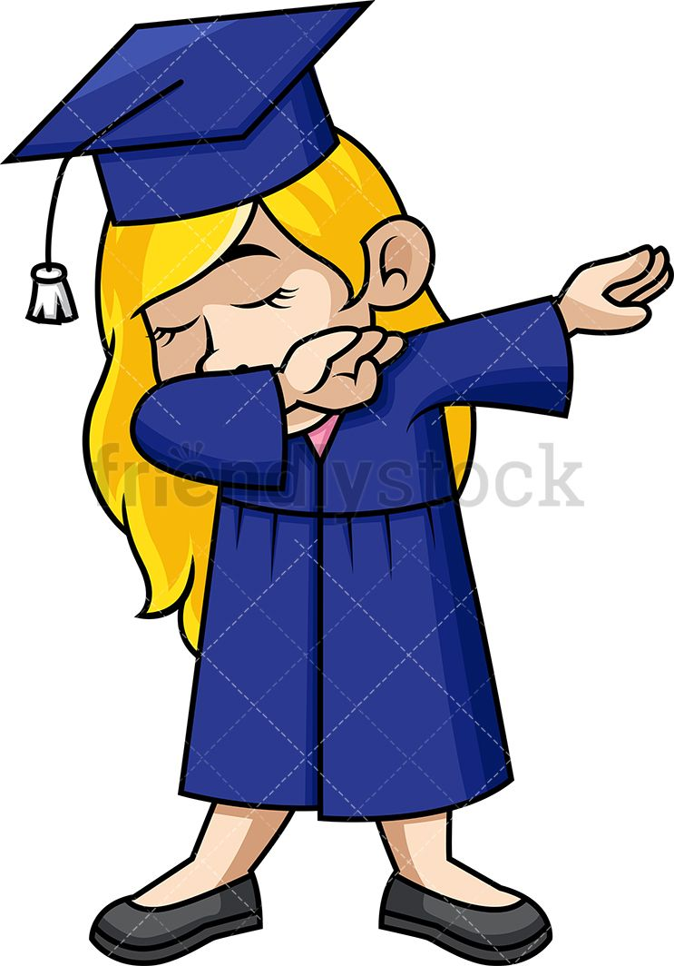 Dabbing Girl Graduate Cartoon Vector Clipart | Pinterest | Dabbing ...