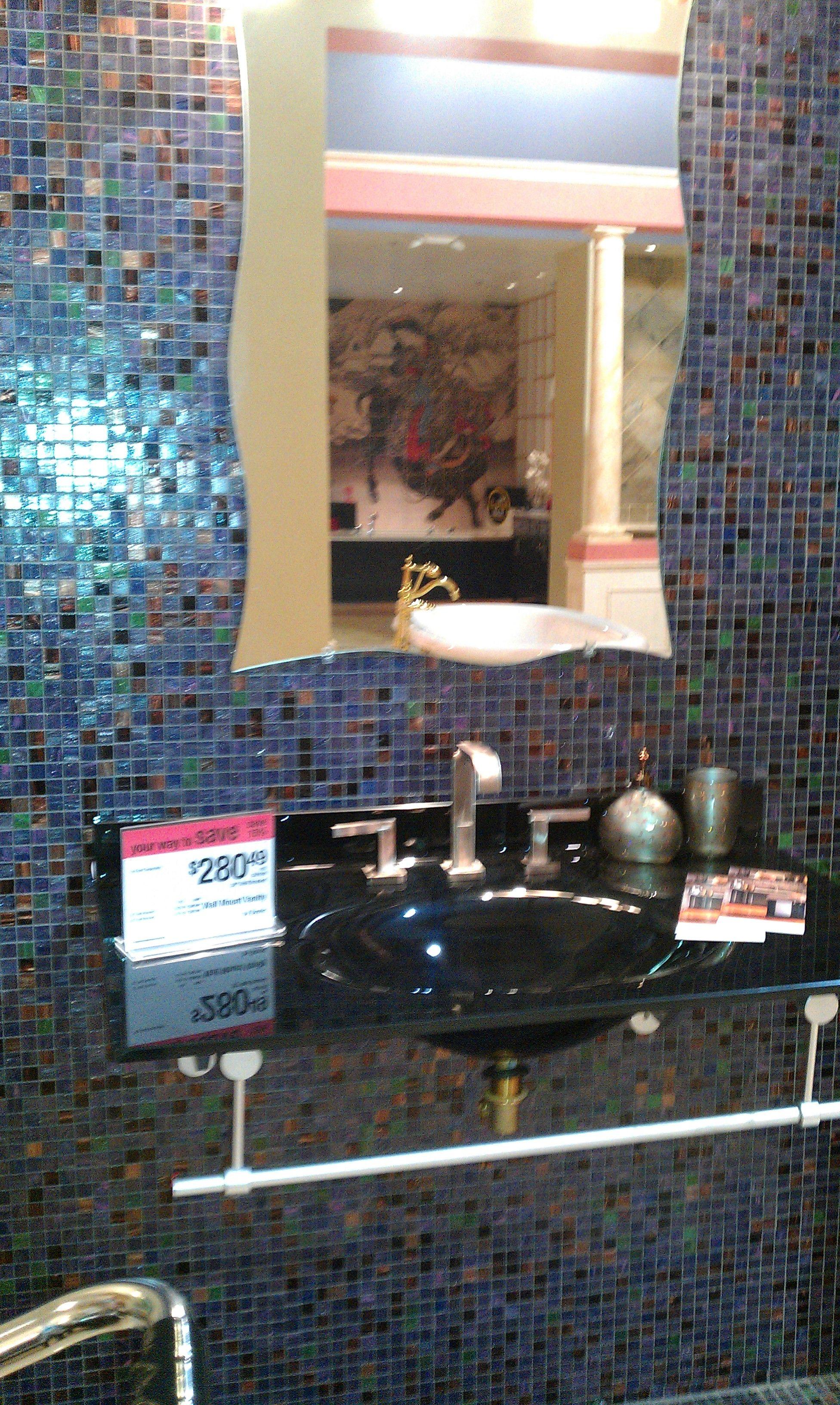 I Like The Tile Behind Mirror In Bathroom Mirror Bathroom Mirror Decor