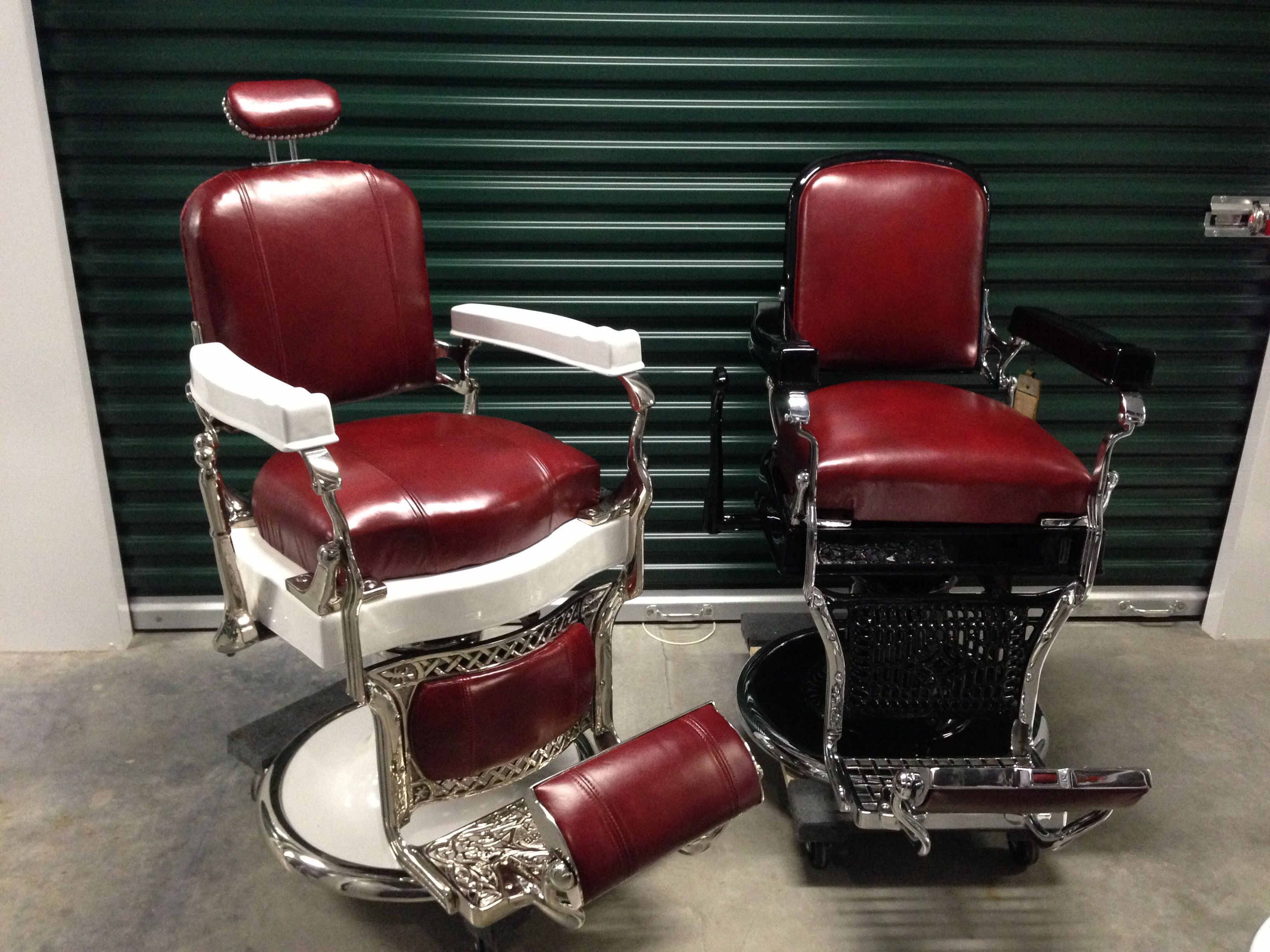 Restored Koken Barber Chairs From Custom Barber Chairs