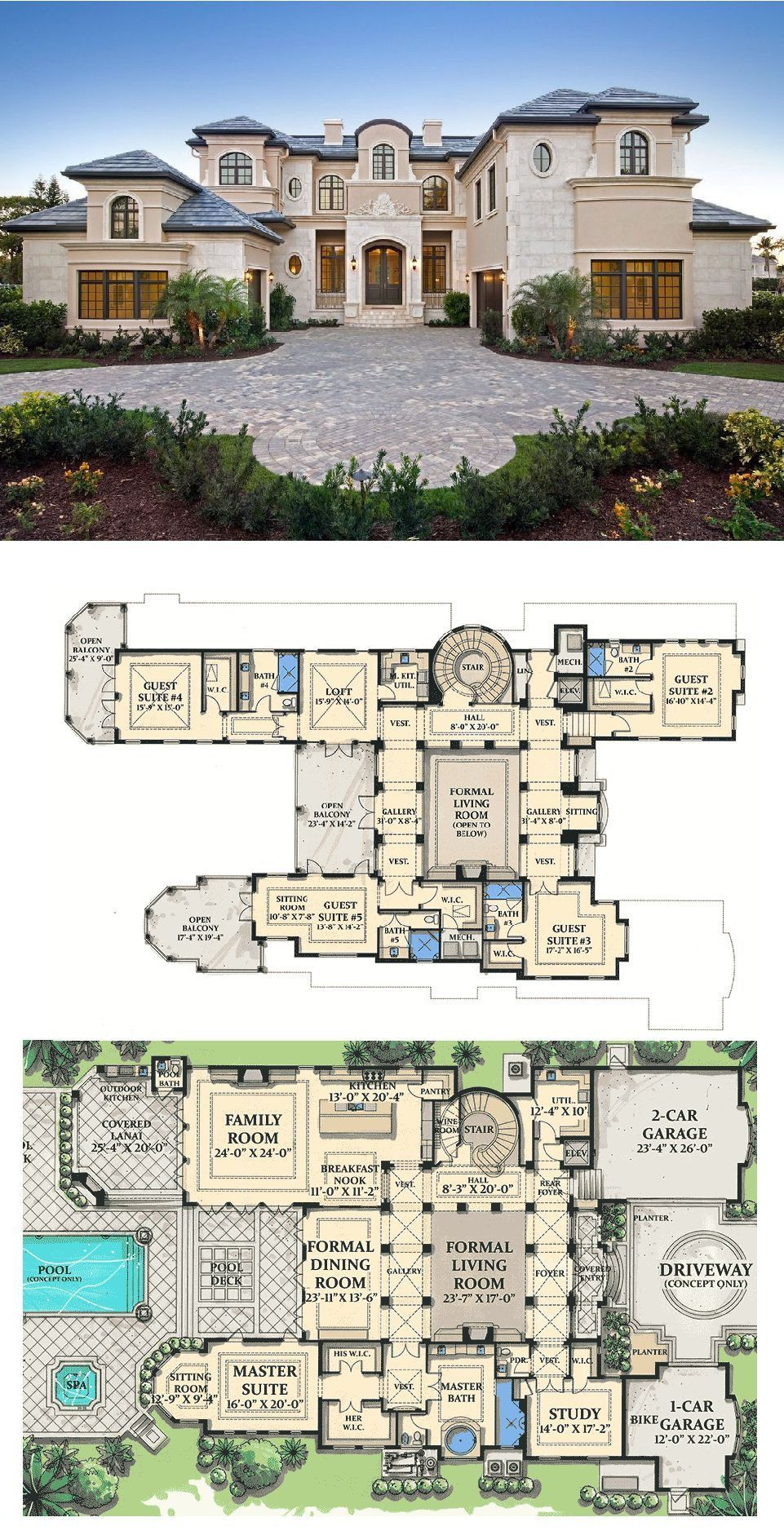 Luxury Home Plans 2020.Plan 31804dn World Class In 2019 House Plans House Plans