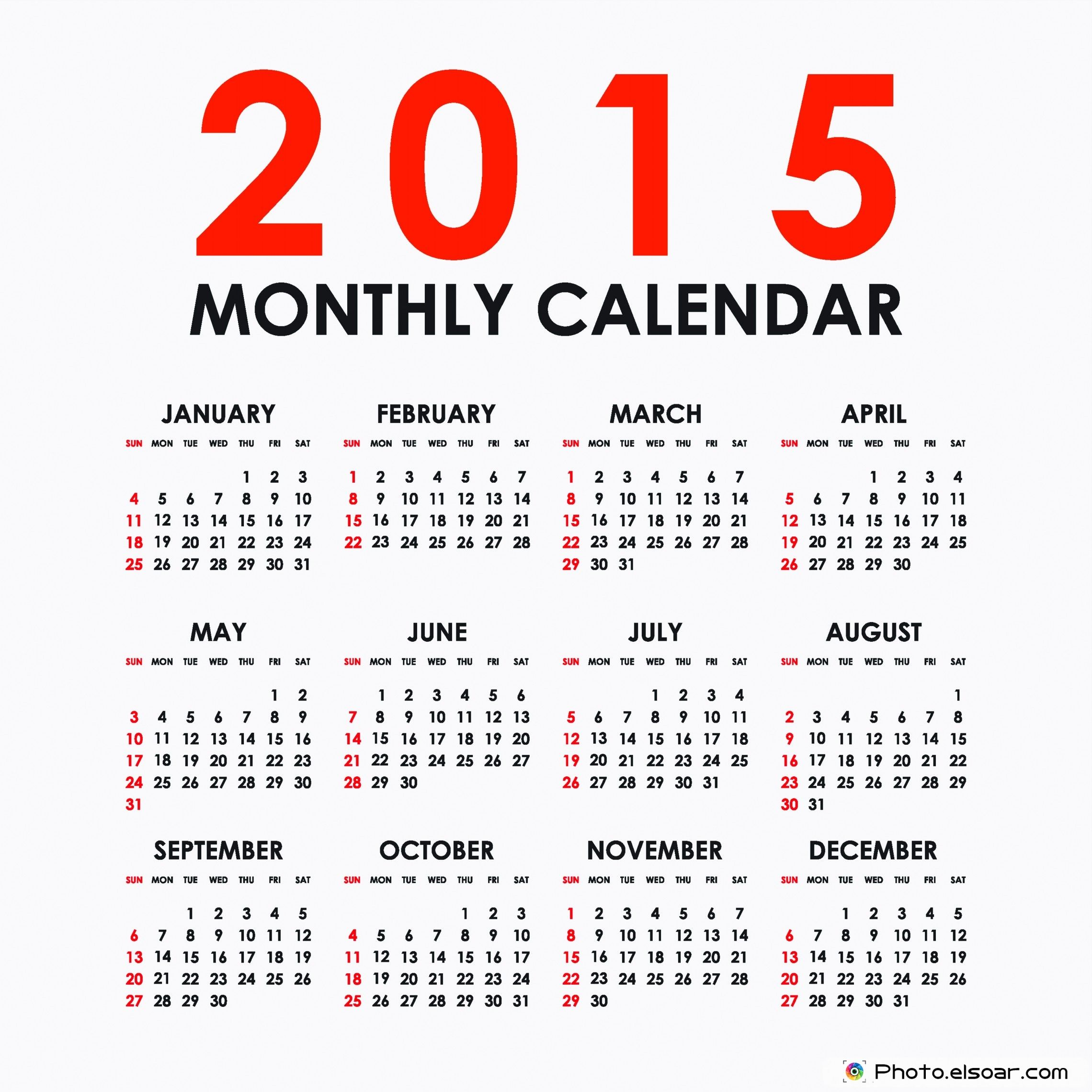 ipad 2015 calendar for wallpaper large simple monthly 2015