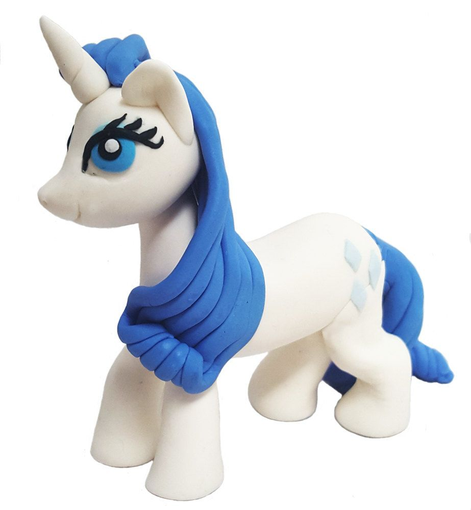 My Little Pony fondant cake topper. Edible figurine of Rarity Pony. by 101cakes on Etsy