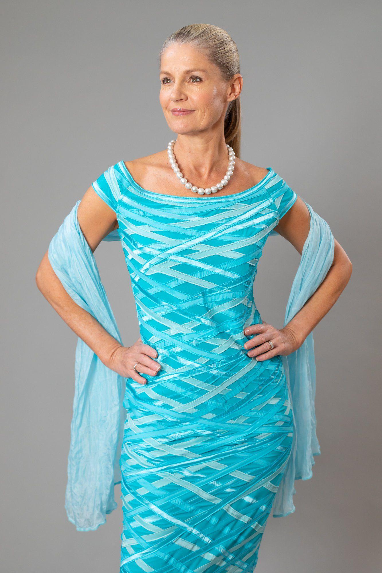 Living Silk Soft Silk Shawl Aquamarine Living Silk